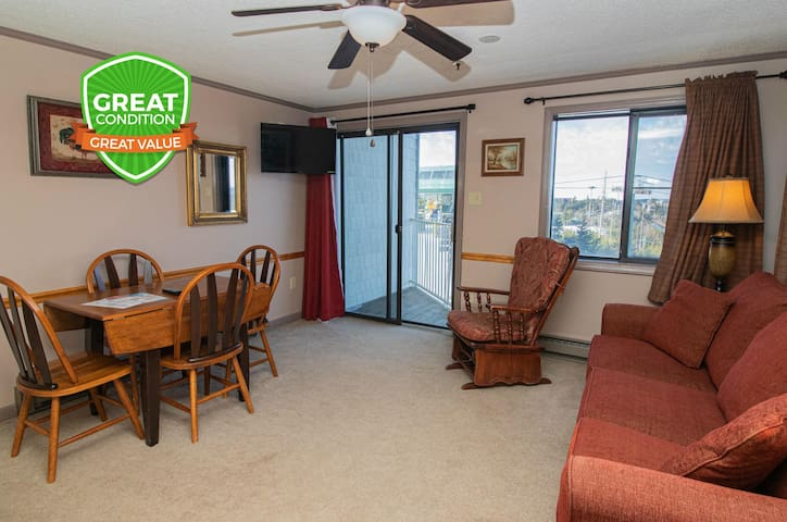 ML242 1BR/1BA Corner Unit Great View WiFi Free Parking Village!