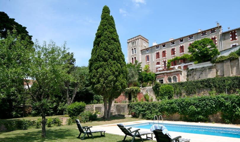 Historic Chateau, private gardens/pool, fab views - Ventenac-en-Minervois - Dom