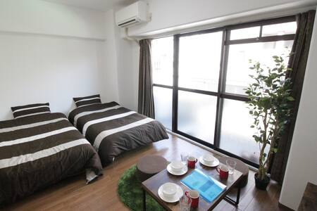 Open SALE! Namba 5 min. Stylish Room For 3 pax - Apartment