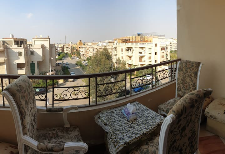 Quiet Spacious Sunny Apt. in Heart of New Cairo