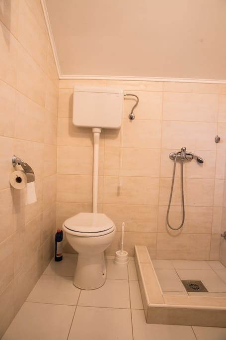 bathroom near the room