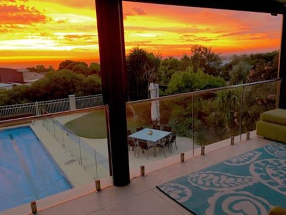 Sunsets from the balcony are astounding!