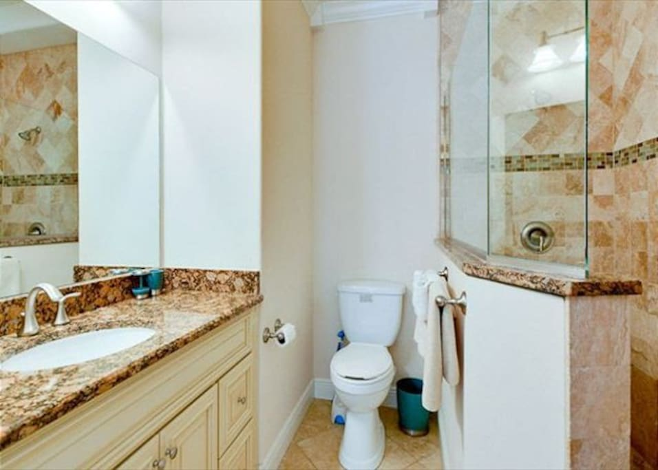 Bathroom connected to master bedroom