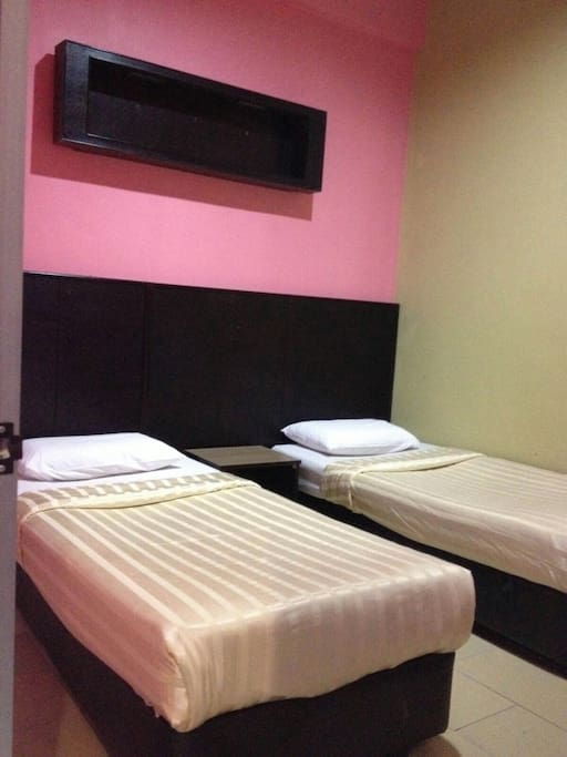 Room 2 - Twin Bedding with Air Condition (additional space available for extra bed)