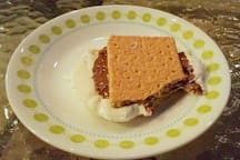Our favorite American treat, the s'more. :)