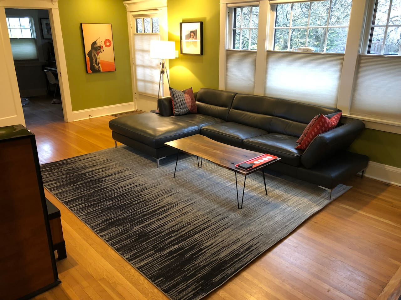 Great place to relax, watch a movie, play a guitar, or just plot your Portland adventures.