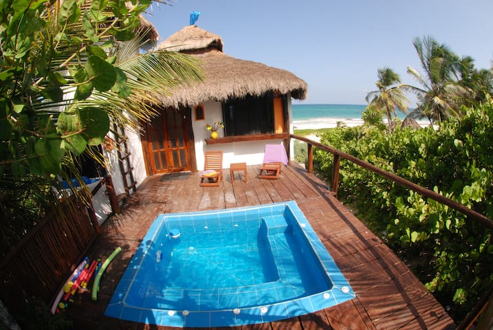 Luxury Beach Front Studio w/jacuzzi and terrace - Tulum - Apartmen