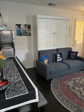 Living Area with Queen Size Murphy Bed