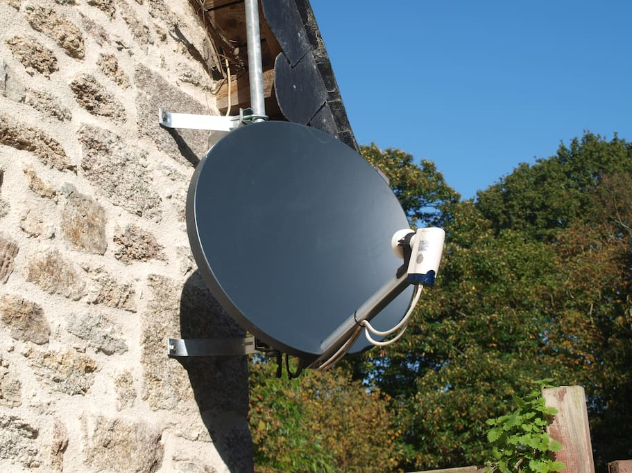 A brand new Sat dish to receive 550 Orange channels...Perfect for the winter evenings