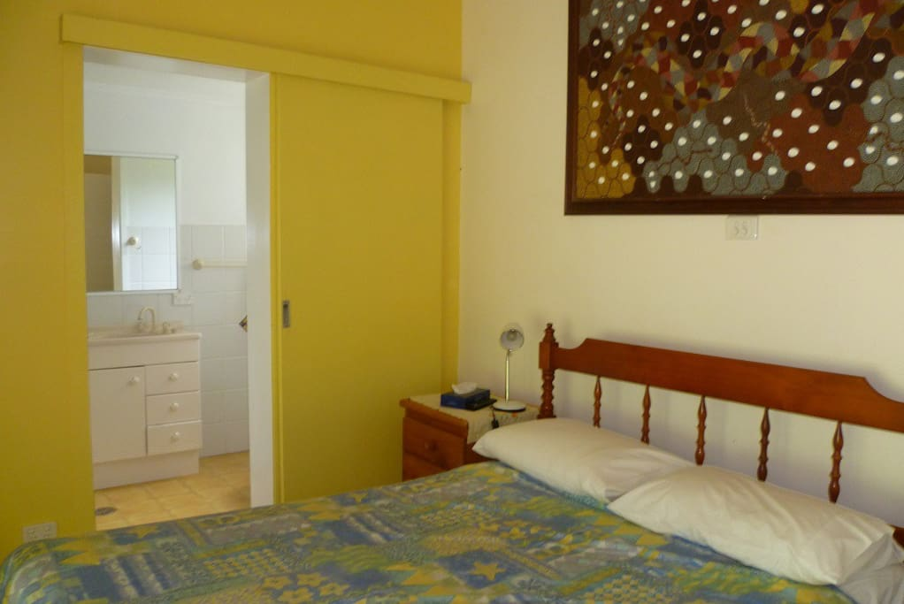 King sized single bed  room with ensuite. Private entrance