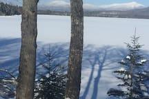 Pristine Winter View across lake