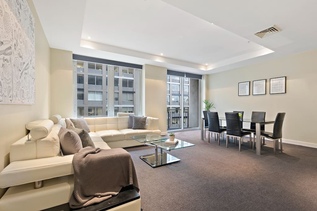 """We had a fantastic time at this Airbnb. It was situated in a perfect location central to everything you would need in the centre of Melbourne . The apartment was clean spacious and modern . We would definitely return and stay again . Great hosts very comfortable stay ."" - Dianne"