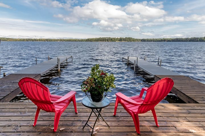 Beautiful location with large private dock and in house sauna