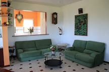 Spacious and comfortable living room to host friends.