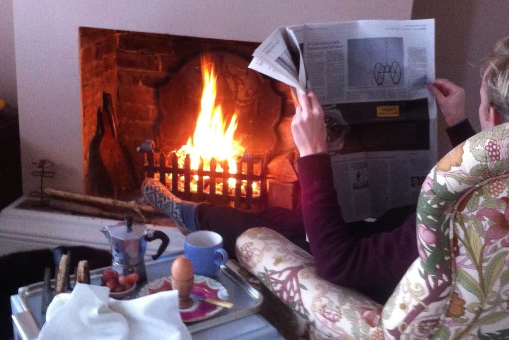 and breakfast in front of a log fire with the papers if you'd like