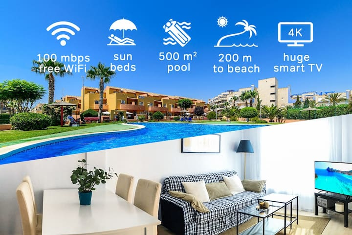 2017 refreshed 3-bedroom with Pool next to the Sea - Orihuela - House
