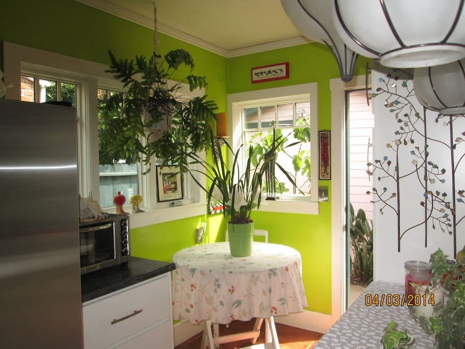 SHOWS VIEW OF KITCHEN.  FULL USE OF KITCHEN WITH MICROWAVE, OVEN, REFRIGERATOR ENCOURAGED!!