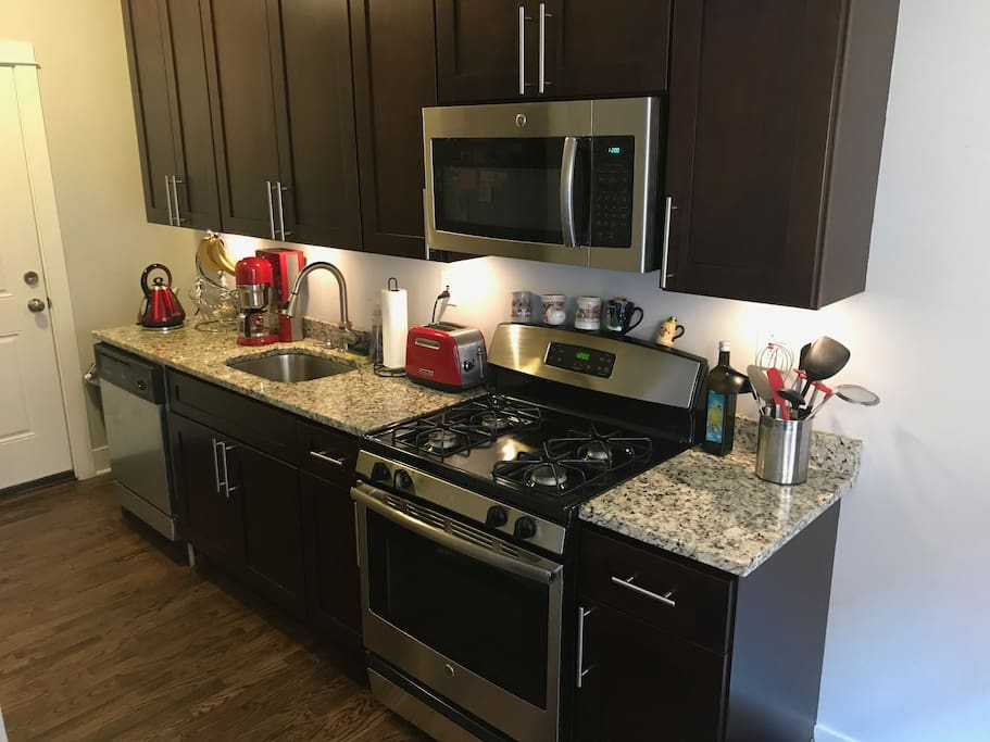 Tons of counter top space with all the essential tools.
