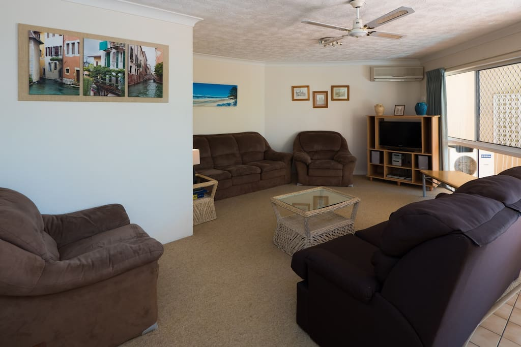 Living Area of One of our 3 bedroom Apartments