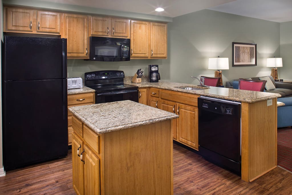 The large kitchen is a great place to prepare delicious meals