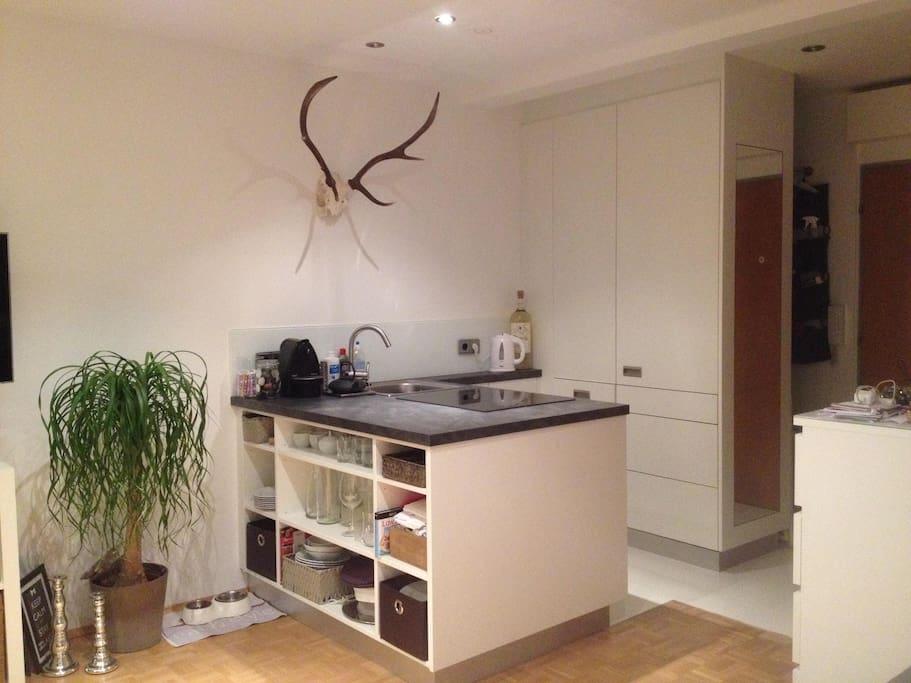 modern new kitchen with Nespresso coffee