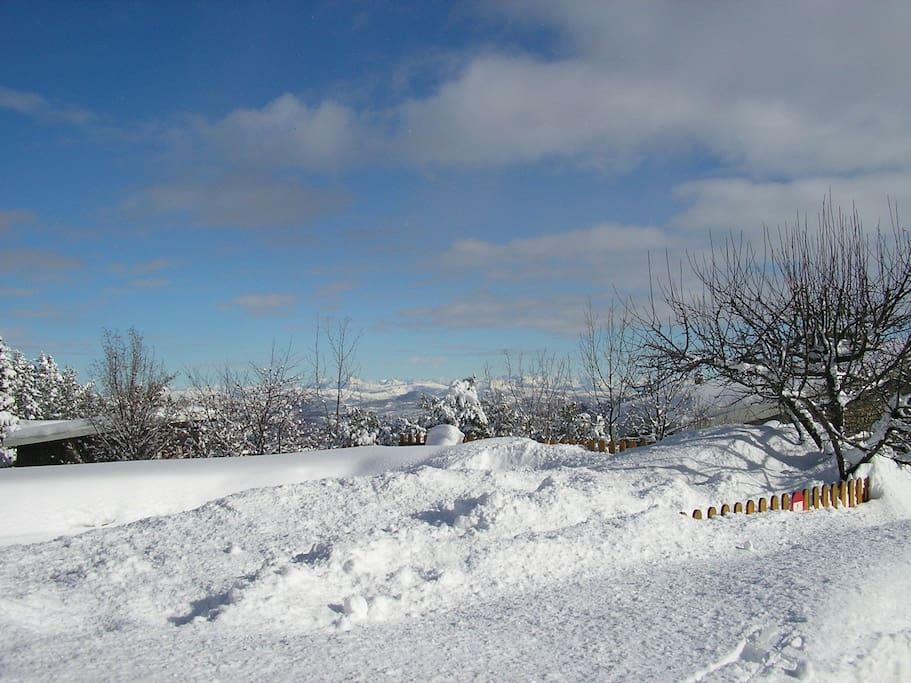 une vue de la station de ski