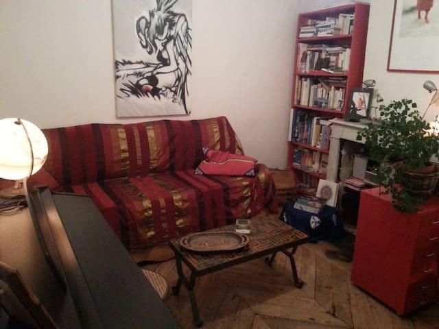 salon / avec canapé contenant 2 lits 1 place