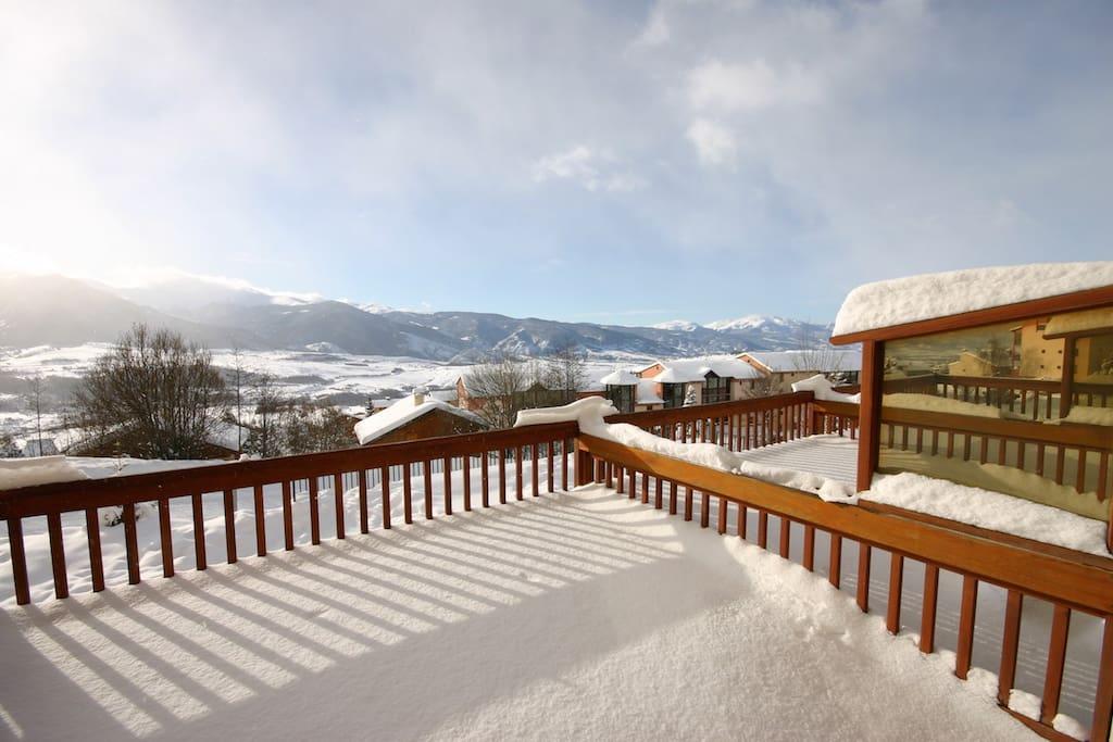 La terrasse enneigée!