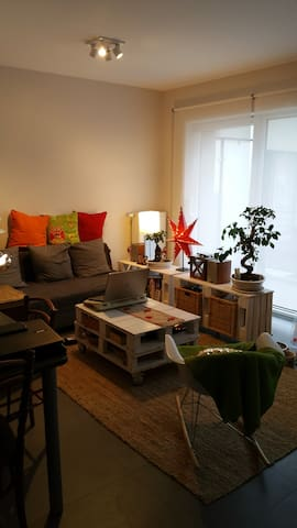 Comfortable sofa in private modern salon in Arlon - Arlon - Apartment