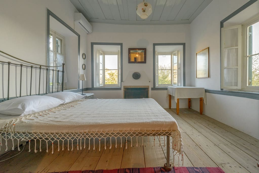 Top Floor Master Bedroom with Fireplace and A/C!