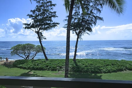 Direct Oceanfront Top Floor Studio - Kapaa - Condominium