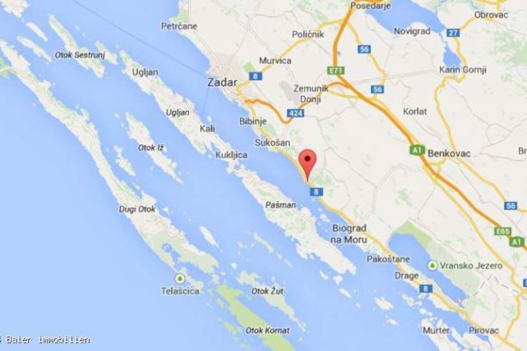 Location- between Zadar and Biograd