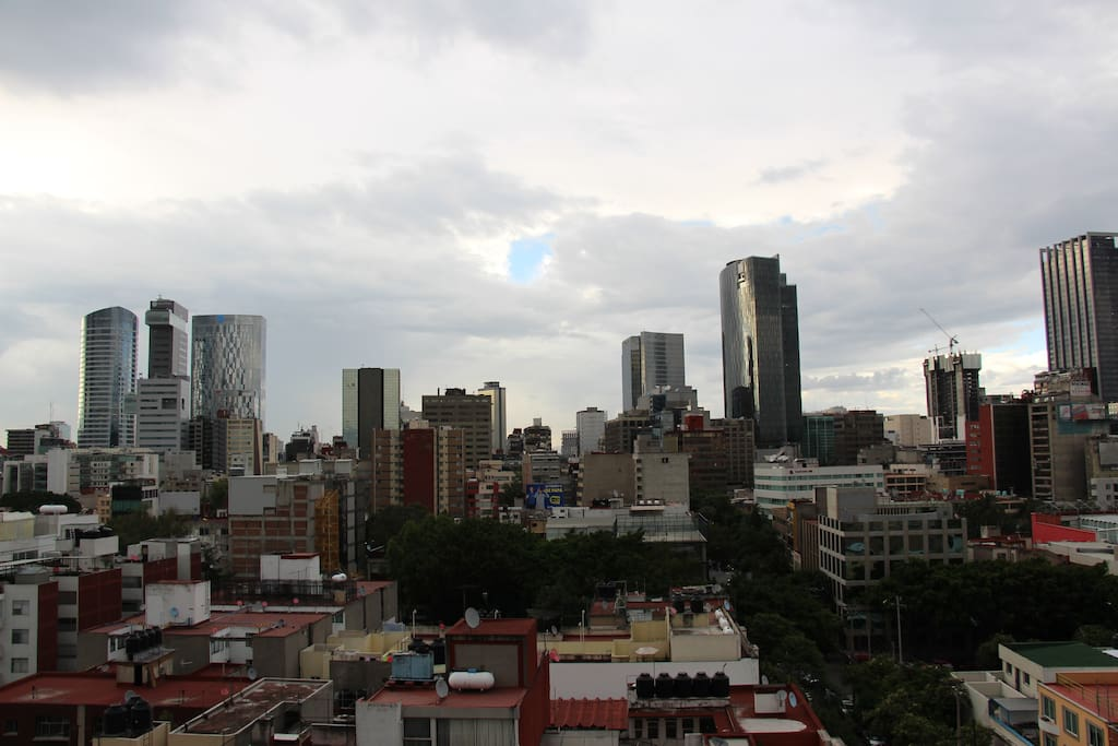 Great view to Reforma's skyscrapers