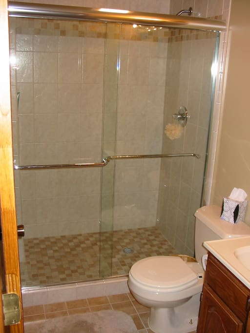 DREAMY STAND UP SHOWER. WOW YOU ARE GONNA LIVE IN STYLE
