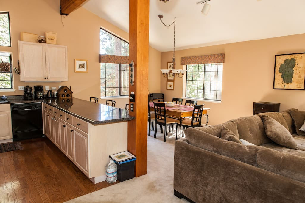 Great room, the same says it all... great room for socializing with friends and family!