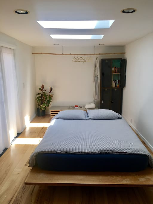 Bed with Skylights