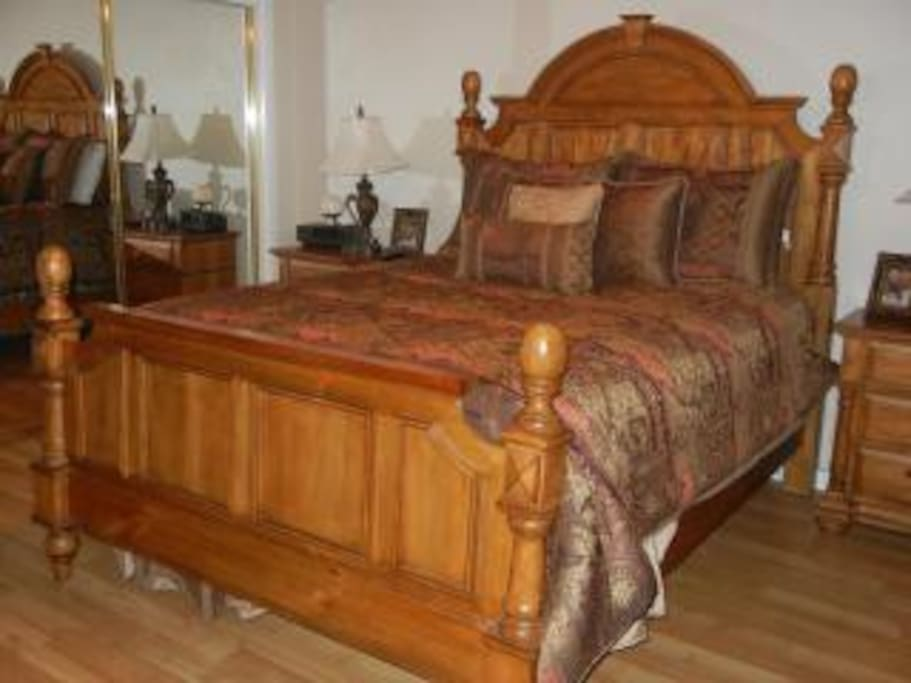 Master Bedroom - with separate entrance, dvd player, tv, ceiling fan