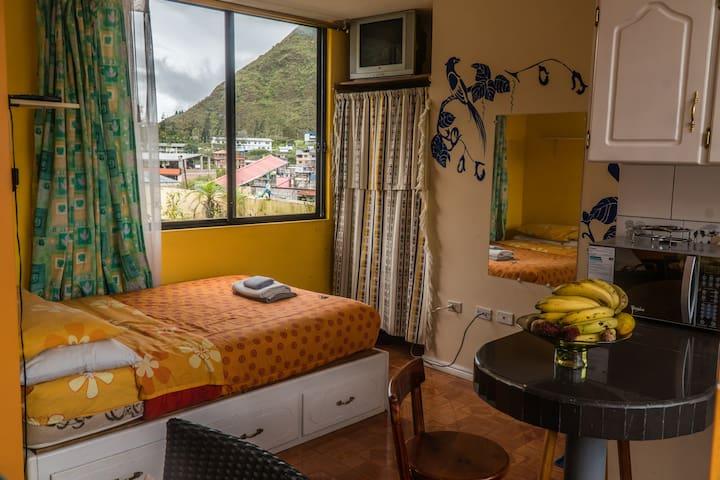 Cozy Studio in Baños, Great views.