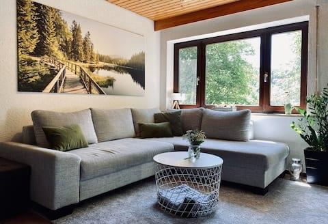 Fichtelgebirgs-Lejlighed: Moderne møder ren natur