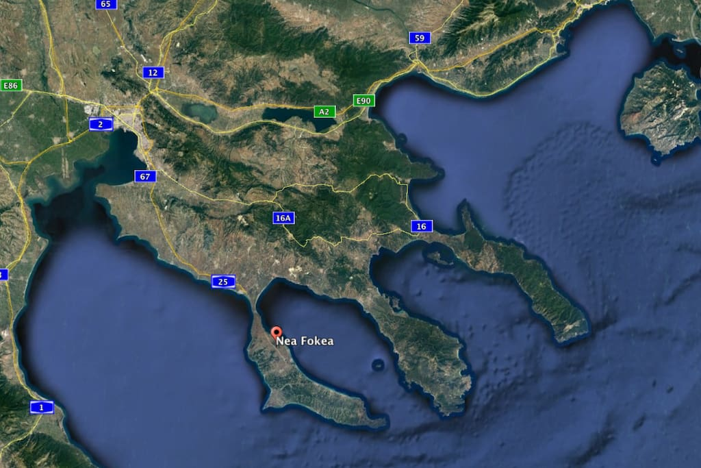 A map showing the house area and how close it is to Thessaloniki and the main beaches!