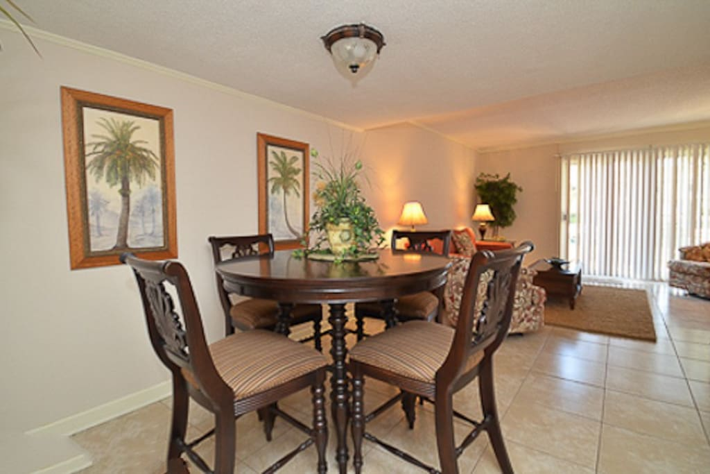The Dining area is open to the kitchen and living area.