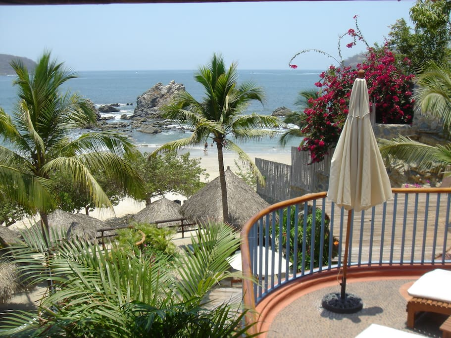 Zihuatanejo Bay from our deck.