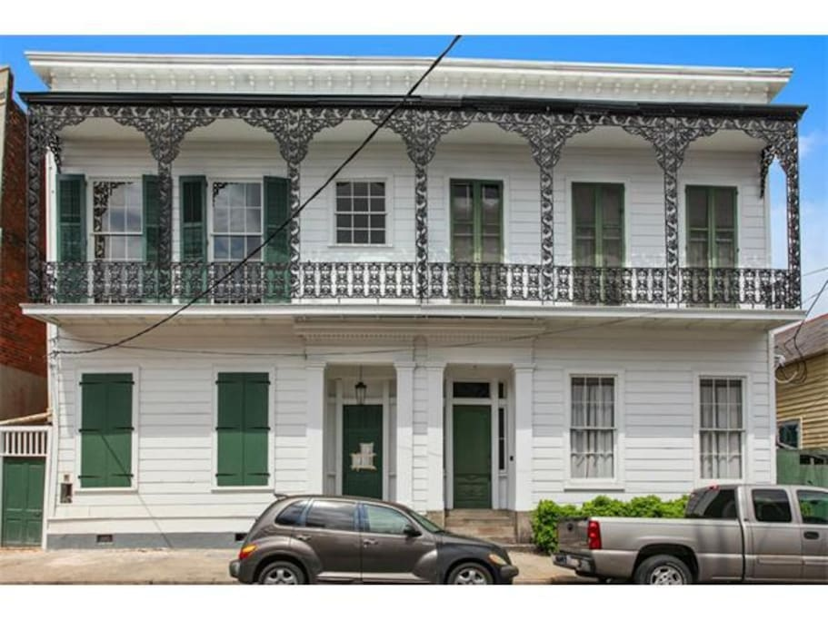 Historic on Bourbon Street property dated back to the 1800's. This is a brand new condo offering luxury plus!