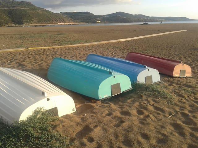 Spiaggia di Bosa Marina in inverno
