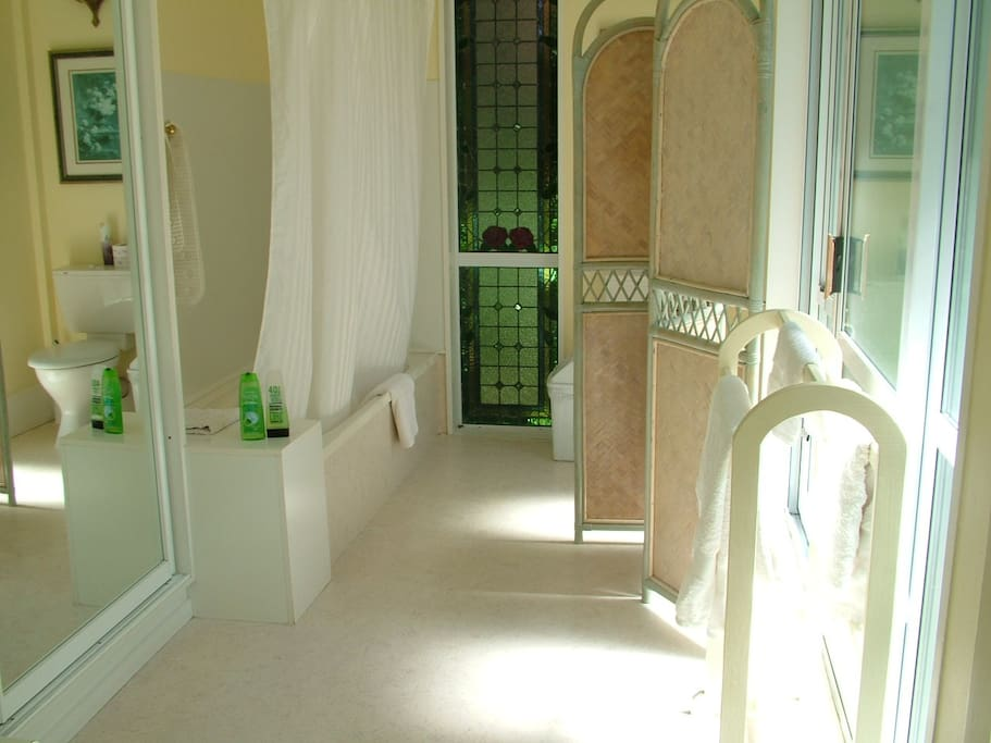 Large Ensuite with bath. Spa pool also available