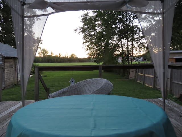 Deck view into field