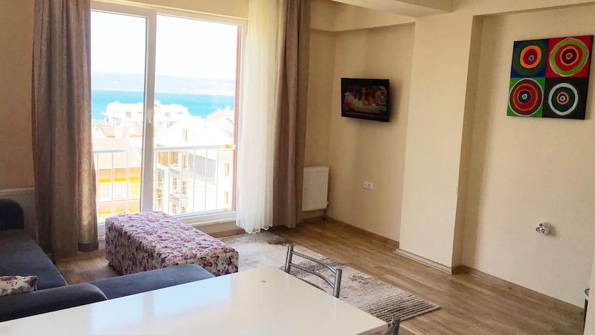 Muhteşem Deniz Manzaralı Dubleks 6 Kişilk Ev - kepez - Wohnung