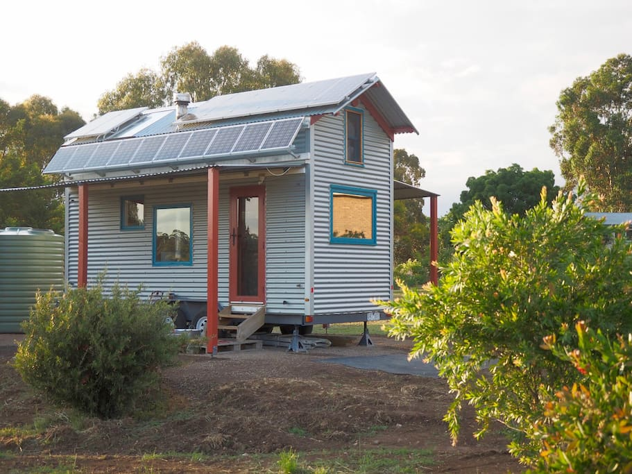 Fred's TIny Houses prototype. An off-grid tiny house built for an Australian climate