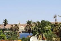Blick von unserer noch nicht fertigen  Dachterrasse, view from our unfinished rooftop to the Nile