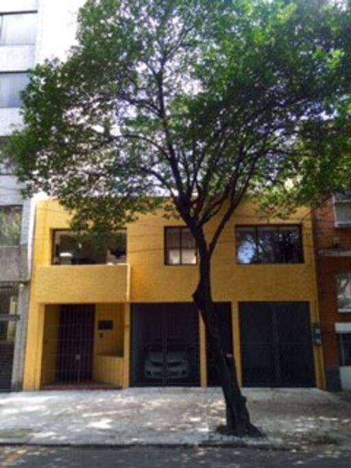 Façade of apartment